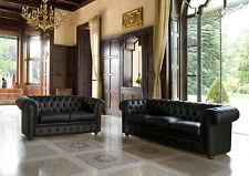 Sofagarnitur Chesterfield 3+2 Sitzer Sofa Leder  Couch Polster Schaffhausen Neu