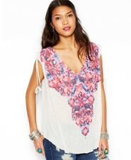 NWT Free people Moon Dance Tee Shirt floral over sized top  boho S M