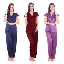 Patternless Pyjama Sets Vest Lingerie & Nightwear for Women