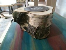 "New Table Biofireplace  "" Birch trunk ""  Bioethanol Fireplace  27x12.5cm"