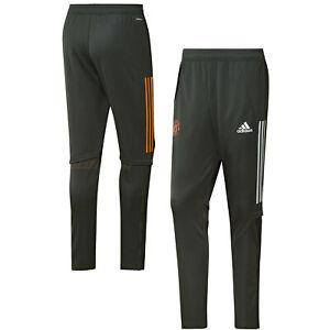 Adidas Mens Manchester United Training Football Sport Pants - Green