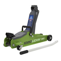 BB21 Trolley Jack 2 Tonne Low Entry Short Chassis Stand Jack - Hi Vis Green