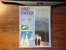 Wind Energy by Tom Kovarik, Charles Pipher, John Hurst Softback 1979