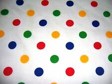 craft fabric  remnant material quilting  1 metre multi poka dot