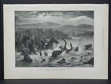 Illustrated London News Full Page B&W S6#155 May 1879 Disaster to 10th Hussars
