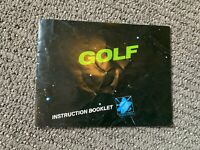 GOLF - ORIGINAL NINTENDO NES INSTRUCTION MANUAL BOOKLET BOOK NO GAME!