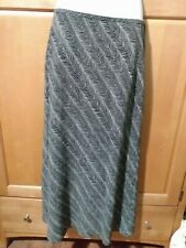 Ann Taylor Petites Long Geometric Lined Skirt Size 6P Black White Polyester