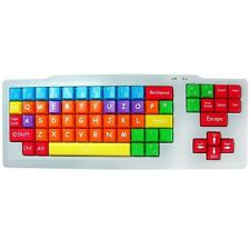 Kids USB Colour Coded Upper Case PC Keyboard Educational Special Needs Large Key