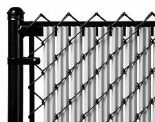 Chain Link Gray Single Wall Ridged™ Privacy Slat For 5ft High Fence Bottom Lock