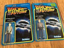 Reazione Figure RITORNO AL FUTURO GEORGE McFly & Biff TANNEN giocattolo retrò Azione