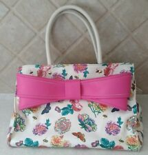 Betsey Johnson large bow Floral Butterfly Satchel Shoulder bag