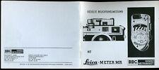 """Instructions Misurazione dell'esposizione mirata """"Leica Meter MR"""" [Germany '83"""