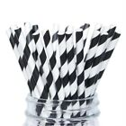 12 PC Black and White Striped Cake Pop Straws | Bakell®