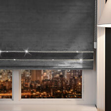 Easy Fit Energy Efficient Bling Crushed Velvet Blinds Dual Tone Decorative BORDE