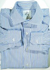 Brooks Brothers Black Fleece modern blue stripe dress shirt sz BB 4