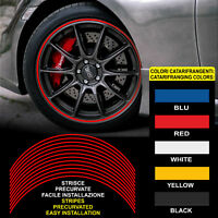 Adesivi cerchi auto strisce CATARIFRANGENTI™ rifrangenti wheel rim stickers cars