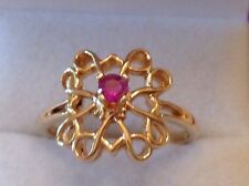 Vintage Avon Ruby Ring Presidents Club Sterling Silver Size 7 1/4