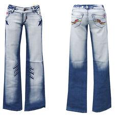 Denim Girls blue jeans w28-gr.36 bootcut pantalones golpe señora Teens chica nº 7