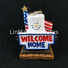 S'mores Welcome Home Military Ornament American Flag Midwest CBK