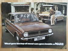 AUSTIN MAXI 1500 1750 HL & HLS orig c1980 Sales Brochure - 3376/A