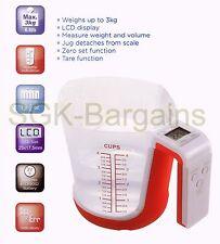 BNIB Digital Measuring Jug Kitchen Baking Weighing Scale