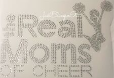 The Real Moms of CHEER Hot Fix Iron On Rhinestone Transfer Bling MADE IN USA