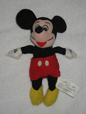 Vintage RARE Walt Disney Mickey Mouse Plush Stuffed Doll Used About 9 Inches