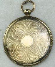CIVIL WAR ERA VICTORIAN ANTIQUE 10K GOLD LOCKET FOB