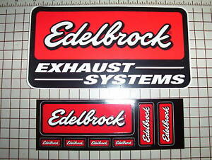 EDELBROCK   Racing Decals  -  NHRA IHRA NASCAR IRL AMA