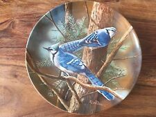 The Blue Jay- Birds of your garden collector plate by K Daniel 2nd Issue Knowles