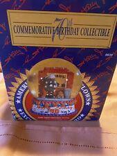 Emmett Kelly Jr. Happy 70th Birthday Commemorative Snow Globe Music Box 1994