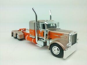 """1/64 DCP  Bronze & Orange Peterbilt 389 36"""" Flattop Sleeper Tractor"""