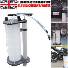 New 9L Manual Vacuum Oil Fluid Extractor Pump 70-170PSI Petrol Fuel Transfer UK