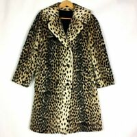 Vintage SAFARI by SPORTOWNE Women's Leopard Print Faux Fur Coat