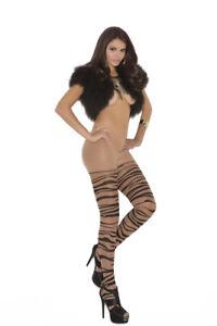 Sheer zebra print pantyhose Costume Wear Adult Woman Regular & Plus Size