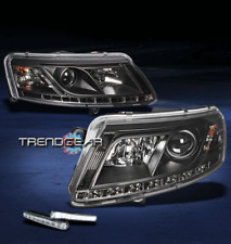 05-08 AUDI A6 LED PROJECTOR HEAD LIGHTS LAMP BLACK W/DRL DAYTIME RUNNING 06 07