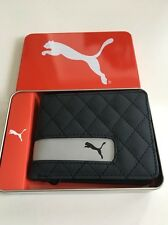 New Mens Puma Bi Fold Authentic Sport Street Gray Wallet with Box Retail $38