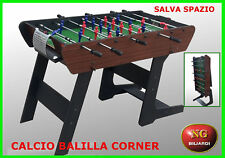 Calcio Balilla CORNER - aste telescopiche - NG BILIARDI - CALCETTO - BILIARDINO-