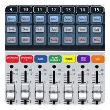 Magnétique Étiquettes pour tables de mixage PreSonus StudioLive