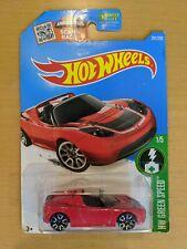 2015 Hot Wheels HW GREEN SPEED Tesla Roadster NIB