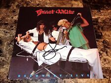 Great White Signed Autographed Vinyl LP Record Recovery Live Jack Russell + COA