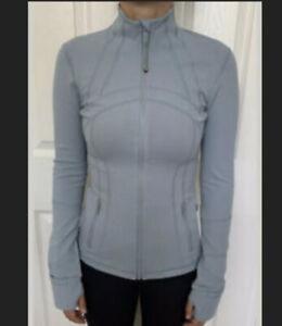 Lululemon Size 6 Define Jacket Luon Blue Cast BUCA Zip Up LS Speed RUN