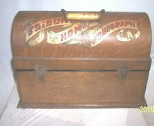 EARLY EDISON SUITCASE HOME PHONOGRAPH CASE , SKELETON + 2000 SERIES CASE