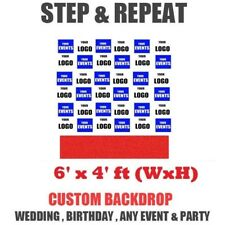 Step and Repeat Banner backdrop 6 x 4 feet for Wedding Awards & Trade shows