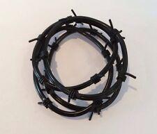 Black 4 Plastic Barbed Wire Gummy Bracelets Goth Emo Alternative Wrist Bands