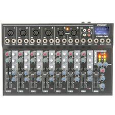 More details for citronic cm8-live 8 channel live + studio mixing desk mixer + usb + sd + effects
