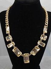 Kenneth Cole New York Goldtone FRINGE WORTHY Faceted Pale Set Stone Necklace $68