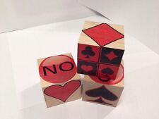 WOODEN  TRUMP  CUBE  for playing card games such as Kitty Whist, Whist, etc.
