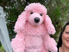 Build A Bear Pink Poodle Puppy Dog SInging HANNAH MONTANA Plush Toy SEE VIDEO