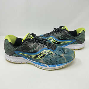 Saucony Ride 10 'Ocean Wave' Running Shoes Mens Size 11.5 Blue/Green S20373-12